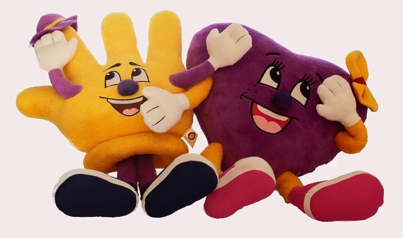 Mascottes SHAMAJO Lofmie en Fielmie